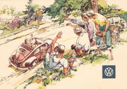 Stuttgart-V W-Sommertreffen Der VW Hunderttausender 1954,gute Frankatur.Heuss Im Paar,tolle Karte. - Stuttgart