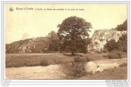 -50% . BOMAL ..-- DURBUY ..-- Pêcheur . Roche Aux Corneilles . 1921 Vers LIEGE ( Mr Mme MOTTET ) . Voir Verso . - Durbuy