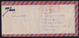 Meter Franking Stamp On Postal History Cover From BANGLADESH - Bangladesh
