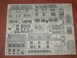 DIJON / ARCHITECTURE/ 1CROQUIS LAPRADE DE 1940 / MOYEN AGE / RUE VERRERIE / DES FORGES / HOTEL CHAMBELLAN  31X24 CM - Architecture