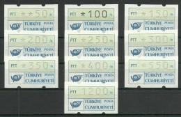Turkey : 1987 Automaton Stamps Group 2 - 1921-... République