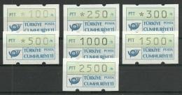 Turkey : 1991 Automaton Stamps Group 3 - 1921-... République