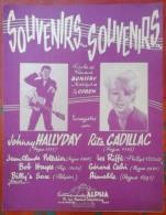 "Partition Johnny HALLYDAY ""Souvenirs ... Souvenirs"" - Partitions Musicales Anciennes"