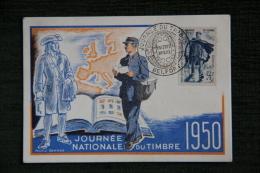 Journée Nationale Du Timbre 1950 - Raoul SERRES - Poste & Facteurs