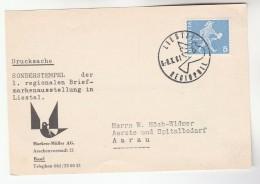 1961 SWITZERLAND LIESTAL REGIOPHIL Soderstemepel COVER (card) Stamps - Switzerland