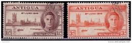 Antigua 1946, Peace Issue, 1 1/2p, Used - Antigua & Barbuda (...-1981)