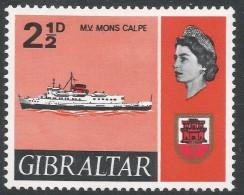 Gibraltar. 1967-69 Ships. 2½d MH. SG203 - Gibraltar