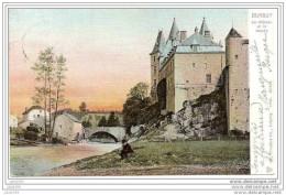 -50% . DURBUY ..-- Le Château Et Le MOULIN . 1908 Vers MALINES ( Melle BRICUSSE ) . Voir Verso . - Durbuy