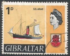 Gibraltar. 1967-69 Ships. 1d Used. SG201 - Gibraltar