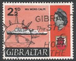 Gibraltar. 1967-69 Ships. 2½d Used. SG203 - Gibraltar