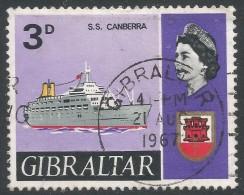 Gibraltar. 1967-69 Ships. 3d Used. SG204 - Gibraltar