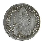 4 Sols Aux 2 L -  Louis XIIII - France -  1692 D - Lyon  -   Argent - TB+ - - 1715-1774 Louis XV Le Bien-Aimé