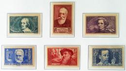 AU PROFIT DES CHOMEURS INTELLECTUELS 1938 - NEUFS ** - YT 380/85 - MI 416/21 - Unused Stamps