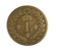 Un Décime - Louis XVIII  - France - Blocus De Strasbourg  1815. BB   -  Bronze - TB+  - - France