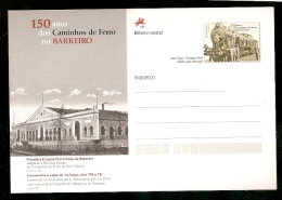 Portugal & Inteiro Postal,150 Aniversário Dos Caminhos De Ferro No Barreiro (15) - Trains