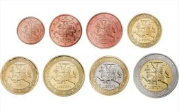 Lithuania 1 Euro Cent - 2 Euro Coins Set UNC - Litauen