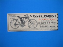 (1909) Cycles PERNOT (E. SAVOYE & Cie) Rue Victor-Hugo à Saint-Chamond (Loire) - Vieux Papiers