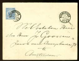 BRIEFOMSLAG Gelopen In 1899 Van WORMERVEER Naar AMSTERDAM Nvph 35 (10.474e) - Period 1891-1948 (Wilhelmina)