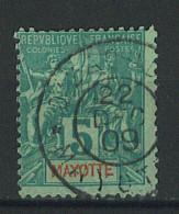 """VEND BEAU TIMBRE DE MAYOTTE N°4 , CACHET """"DZAOUDZI"""" !!!! - Mayotte (1892-2011)"""