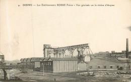 DIEPPE  Les établissements ROBBE Fréres  Vue Générale Sur La Riviére D´Arques - Dieppe