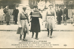 Aire De La République ... 11 Nov 1920 - Transfert Du Coeur De Gambetta ... - Otros