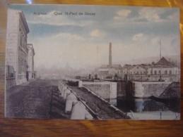 ANGLEUR ( LIEGE ) Quai St Paul De Sincay ( Rare ) Carte Colorée 1927 - Lüttich