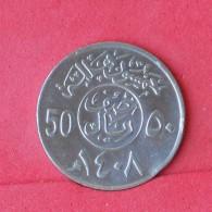 SAUDI ARABIA  50 HALALA 1987 -    KM# 64 - (Nº15404) - Saudi Arabia