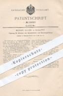 Original Patent - M. Kugler In Budapest , 1900 , Führung Für Glocken Von Gasbehältern Und Glockengebläsen , Gas , Gase ! - Historische Dokumente