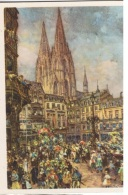 COST-L6 -ALLEMAGNE Entier Postal Illustré Du Carnaval De Cologne 1939 Défilé, Cathédrale Et Coiffe - Costumes