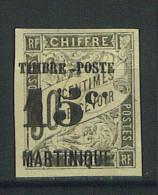 """VEND BEAU TIMBRE DE MARTINIQUE N°22 , POINT APRES LE """"C"""" PLUS HAUT !!!! - Martinique (1886-1947)"""