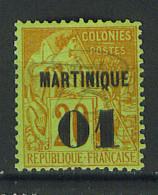 VEND BEAU TIMBRE DE MARTINIQUE N°3 , NEUF !!!! - Martinique (1886-1947)