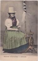 Allemagne,1908,neustadt,b Adische Volkstrachten,schonach,st Ation Ski,métier Couture,couturière Bien Habillée ,costume - Neustadt Am Rübenberge