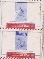 422 BUVARD PILE MAZDA  Lot De 4 Buvards ILLUSTRATEUR DUBOUT Tâches - Piles