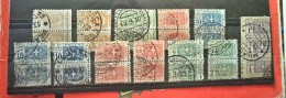 COAT OF ARMS-LOT-PAIRS-PARCEL POST STAMPS-ITALY-1914 - Italy