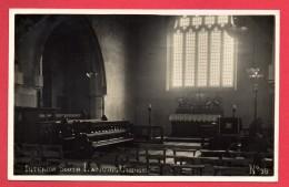 Carte-photo Lancing.  Interior Of South Lancing Church. 1927 - Autres