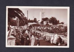 Maroc Tanger Vue Sur Le Marché Au Charbon ( Animée Ed. Lebrun Freres) - Tanger
