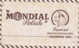 450 BUVARD MONDIAL POLISH CHAUSSURE CHIC - Produits Ménagers