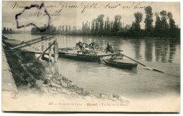 - 237 - Miribel - Environs De Lyon, Un Bac Sur Le Rhône, Transport Attelage, écrite En 1904, BE, Scans. - Autres Communes