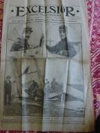 Journal Illustré Quotidien * EXCELSIOR * ,1912 ''Collision Aéroplanes Douai,Caricature Guitry,Concours Agricole. - Journaux - Quotidiens