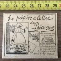 PUB PUBLICITE ANNEES 20 LE PAPPIER A LETTRE  DE BECASSINE PINCHON GAUTIER ET LANGUEREAU - Colecciones