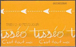Ticket De Transport France - Tisséo Toulouse Bus Et Métro, Tribu 2-12 Personnes, Verso Blanc, Utilisé - Métro