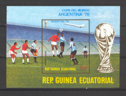 Equatorial Guinea 1978 Football Imperforate MS MNH (DMS01) - World Cup