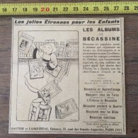 PUB PUBLICITE ANNEES 20 LES JOLIES ETRENNES POUR LES ENFANTS ALBUM  DE BECASSINE PINCHON GAUTIER ET LANGUEREAU - Vieux Papiers