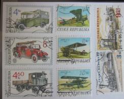 République Tchéque - Lot De Timbres Obl - Camions Avions Train - Années 90 - Tchéquie