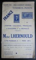 Catalogue Novembre 1943 - Lhernould - Catalogues De Maisons De Vente