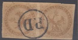 #103# COLONIES GENERALES N° 3a (paire Avec Timbre Couché) Oblitéré PD (Réunion) - Eagle And Crown
