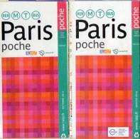 PLANS RATP PARIS POCHE  M RER T BUS  *2013 *20016  (lot De 2) - Europe