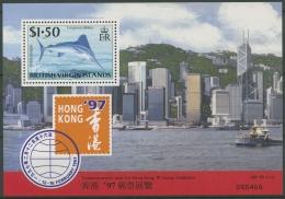 Britische Jungferninseln 1997 Fische Weißer Marlin Block 88 Postfrisch (C12636) - British Virgin Islands