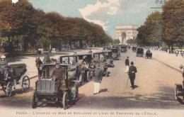 PARIS XVI Avenue FOCH Autrefois Avenue Du BOIS De BOULOGNE AUTOMOBILES TAXIS Sergent De Ville ARC De TRIOMPHE ETOILE - Arrondissement: 16