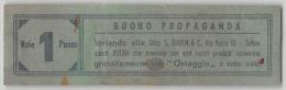 """04658 """"BUONO DI PROPAGANDA (OMAGGIO) - VALE 1 PUNTO - DITTA S. GABIN & C. TORINO""""  DOCUMENTO ORIGINALE - Pubblicitari"""